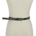 FSA019 Thin Leopard Pattern Belt, Snake